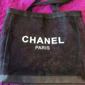 Chanel VIP mesh tote (beach bag)